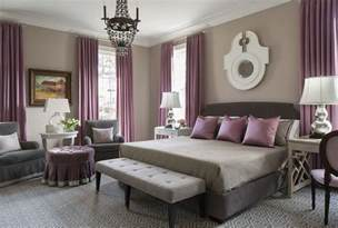 purple and taupe bedroom purple and gray bedroom with mismatched nighstands