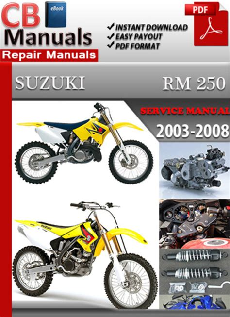Suzuki Rm 250 Manual Factory Pdf Manuals Suzuki Rm 250 2003 2008 Factory Pdf