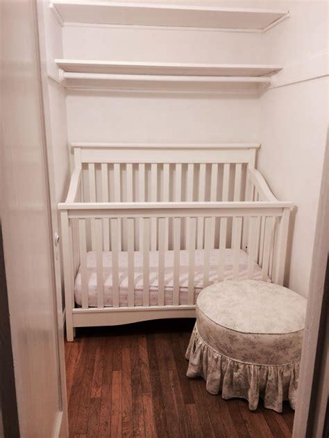 Crib In Closet by Closet Nursery Ideas For A Small Nursery Phoebe S Closet Nursery Small