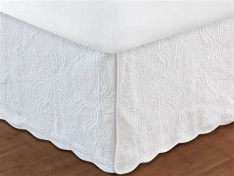 bed skirts queen white quilted twin full queen king bedskirt cottage