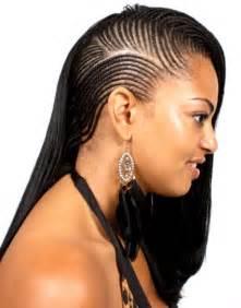 Galerry side braid hairstyles black