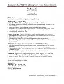 Lifestyle Editor Cover Letter by Photographer Resume Free Resume Exle And Writing