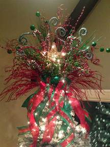 christmas tree topper christmas decorations pinterest