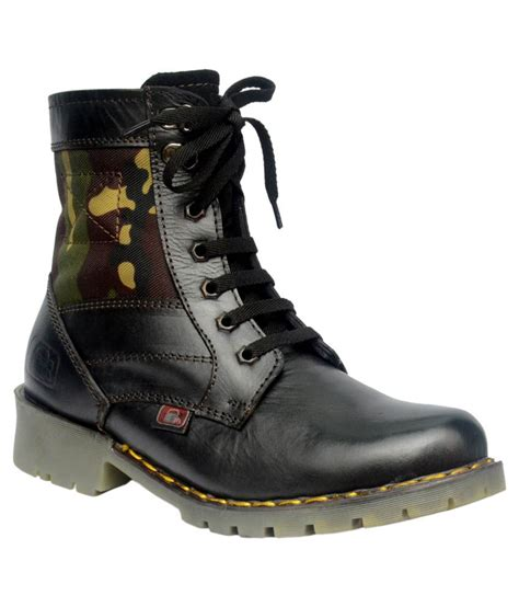big boy black leather lace boots price in india buy big