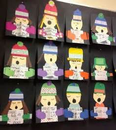 photos of elementary students christmas art qr codes student and link on