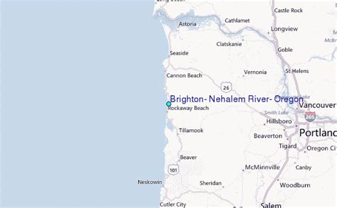 brighton nehalem river oregon tide station location guide