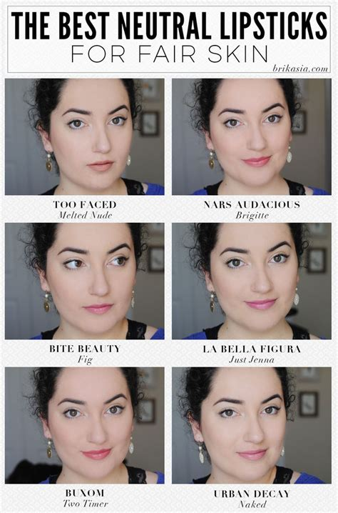best lipstick colors for pale skin the best neutral lipsticks for fair skin makeup looks