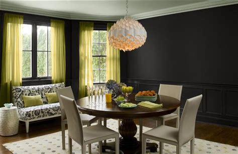 black walls in dining room a bold move