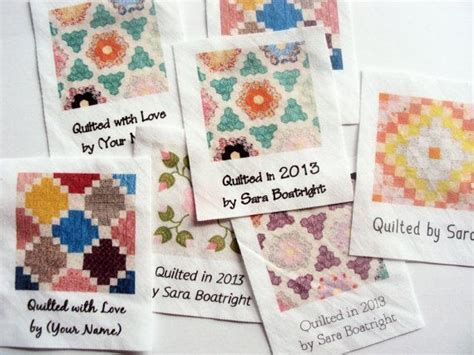 Handmade Labels For Quilts - custom quilt labels 8 large personalized fabric tags for
