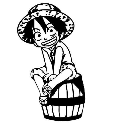 Logo Anime Luffy one monkey d luffy chibi anime decal kyokovinyl