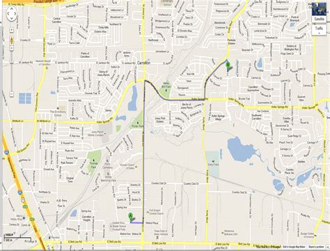 carrollton texas map sun school maps and directions