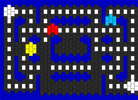 youtube pacman pattern pacman gauntlet pony bead patterns characters kandi
