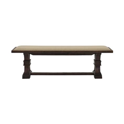 hudson bench hudson brown bench el dorado furniture