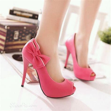 pink side bow heels pictures photos and images for
