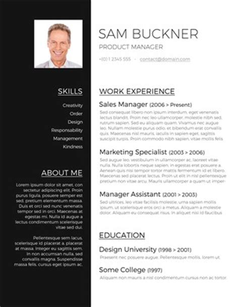 free word resume template with photo 55 free resume templates for ms word freesumes