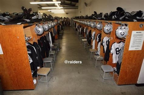 raiders locker room oakland raiders on quot the locker room is ready for raiderstc2014 presented by