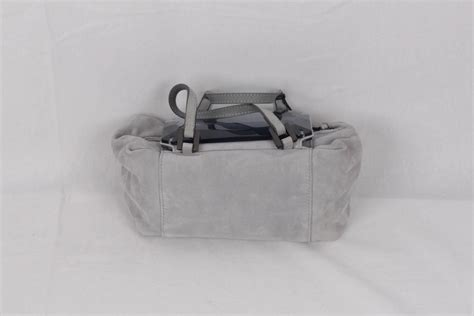 Fendi Mirrored Wallet by Fendi Gray Grey Suede To You Bag Mini Duffle Mirrored