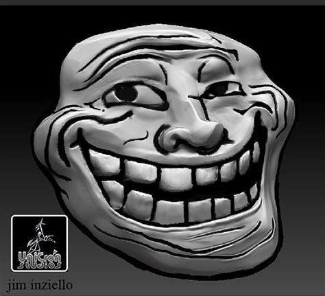 troll face  posing body  printable model cgtrader