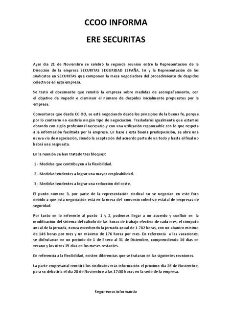 pdf convenio colectivo siderometalurgia barcelona 2007 2012 secci 243 n sindical securitas barcelona ccoo informa ere