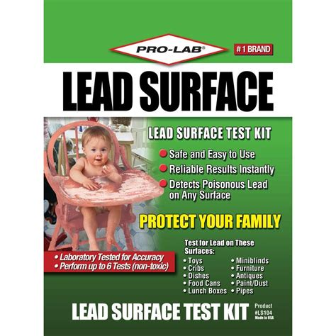 pro lab lead surface test kit 6 tests ls104 the home depot