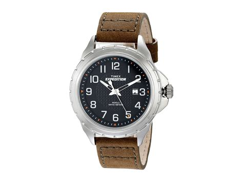 timex expedition rugged field metal timex expedition rugged metal field leather olive silver tone black shipped free