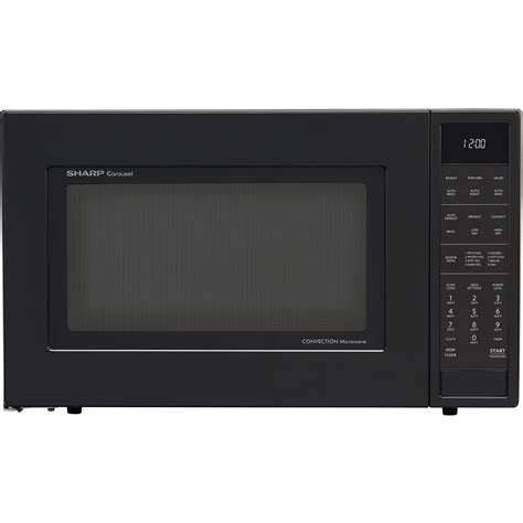Microwave And Oven Sharp sharp 1 5 cu ft 900w convection microwave oven in black