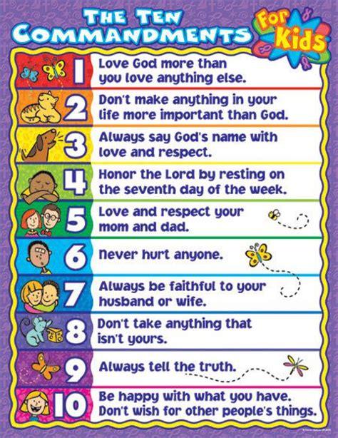 printable version ten commandments catholic the ten commandments for kids cd 6359