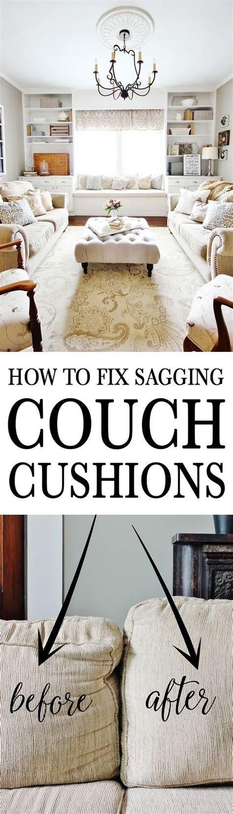 how to fix couch cushion sag how to fix sagging couch cushions home decorating diy ideas