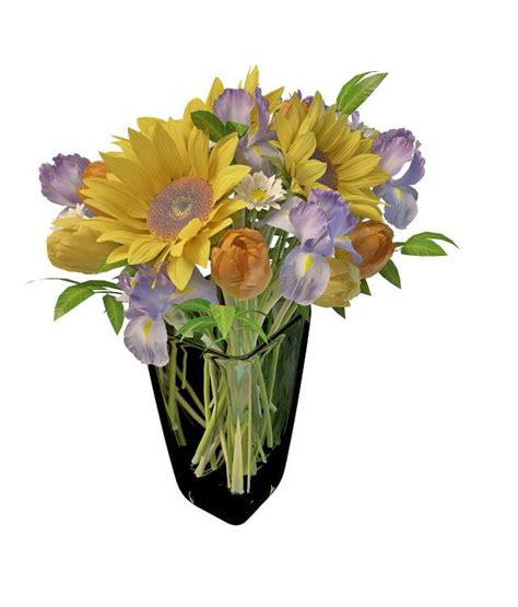 Fresh Flowers In Vase by Fresh Flower In Glass Vase 3d Model 3ds Max Files Free