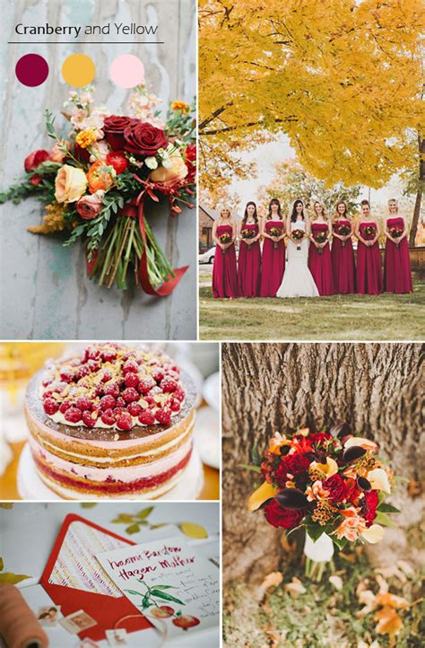 5 Wedding Color Ideas by Top 5 Fall Wedding Color Combo Ideas For Autumn Brides