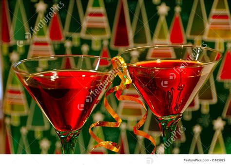 holiday cocktails background photograph of christmas cocktails