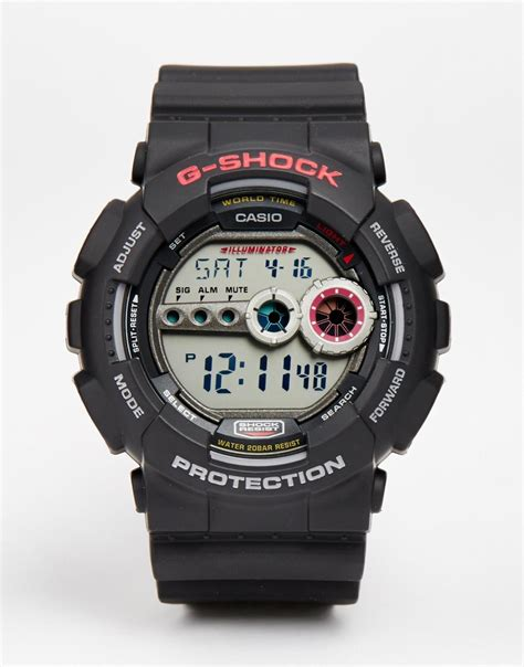G Shock Gsd 100 Black lyst g shock g shock digital gd 100 1aer in black for