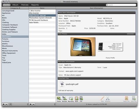 home inventory 2 1 macworld