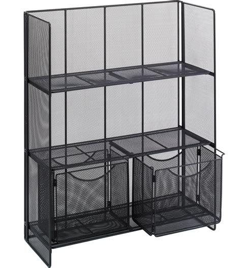 Mesh Shelving Black Mesh Shelving Unit In Free Standing Shelves