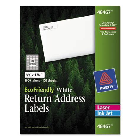 Ecofriendly Laser Inkjet Easy Peel Return Address Labels 5 X 1 75 White 8000 450 Inkjet Address Return To
