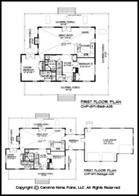 Wrap Around Porch Floor Plans by Small 2 Story Open House Plan Chp Sm 1568 A2s Sq Ft