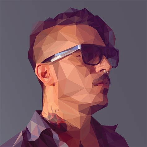 pattern polygon photoshop create a low poly portrait digital arts