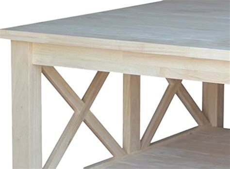 unfinished square coffee table international concepts hton square coffee table