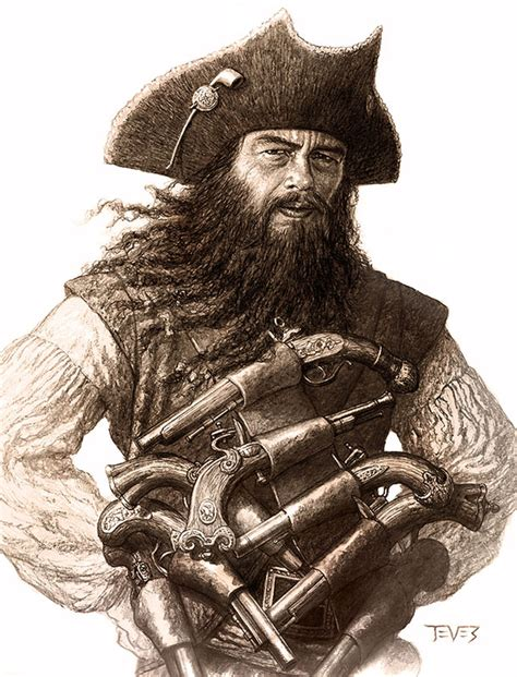 was blackbeard real blackbeard del toro pirate pinterest pirate art and