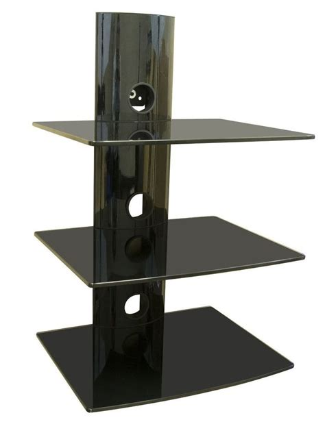 tv wall mount shelving bracket 3 shelf component shelves