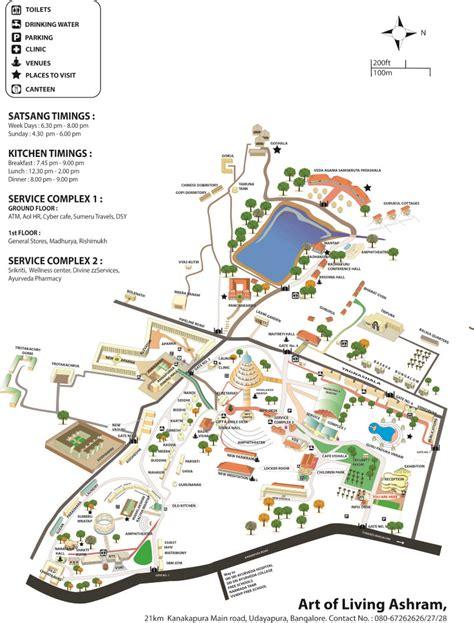 Floor Plans For Kids ashram map art of living international center