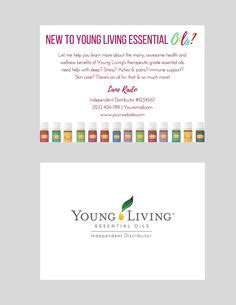 printable young living business cards