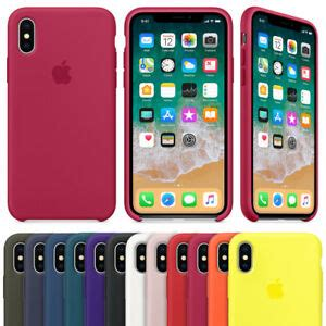 real original quality silicone cover for apple iphone x xs max 6 7 8 plus ebay