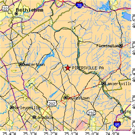 pipersville pennsylvania pa population data races