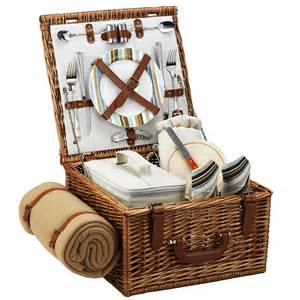 Food Baskets To Send Cheshire Picnic Basket 2 Person W Picnic Blanket Santa Cruz Pattern