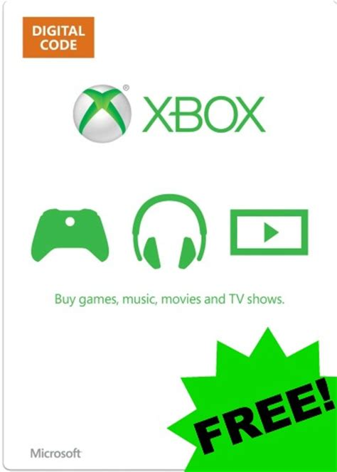 Free Xbox Gift Card - freebies archives the unextreme