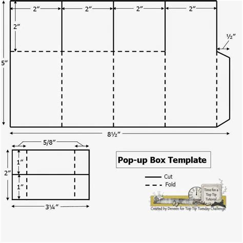pop up box template fits invitation size envelope