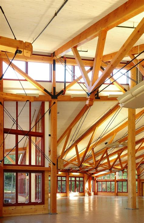 public timber frame  steel details