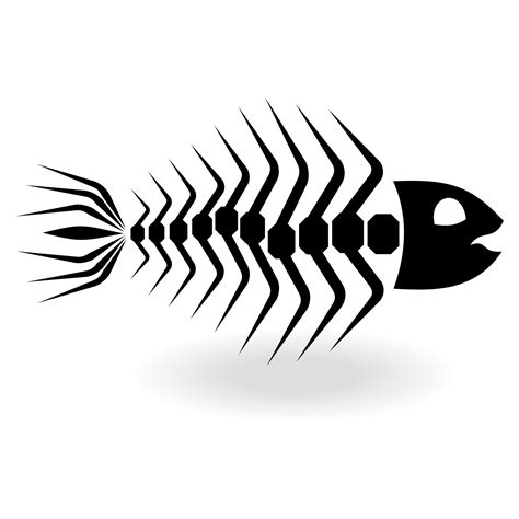 fish bone cartoon clipart best