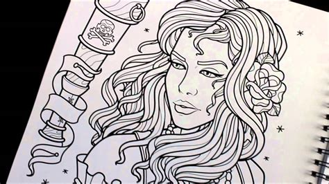 sam phillips tattoo line art sketchbook youtube